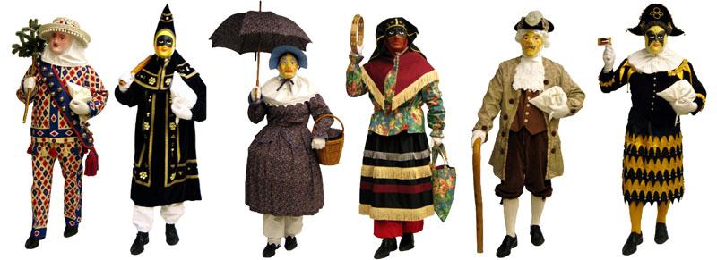 Original Schwyzer Fasnachtsfiguren